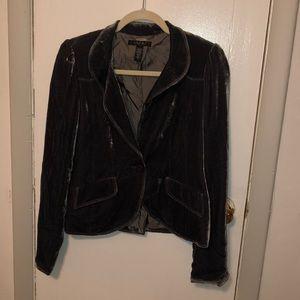 Laundry- grey velvet blazer. Super soft